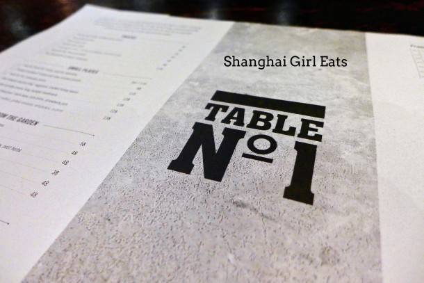 Table No. 1 by Jason Atherton Shanghai